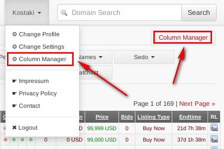 Column Manager Link