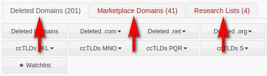Domain List Navigation